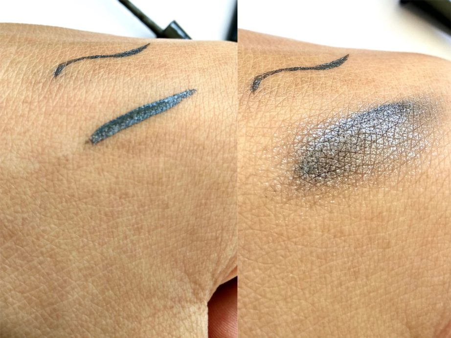 Colorbar Magical Grey Magical Double Duty Eyeliner And Eyeshadow Review, Swatches on mbf