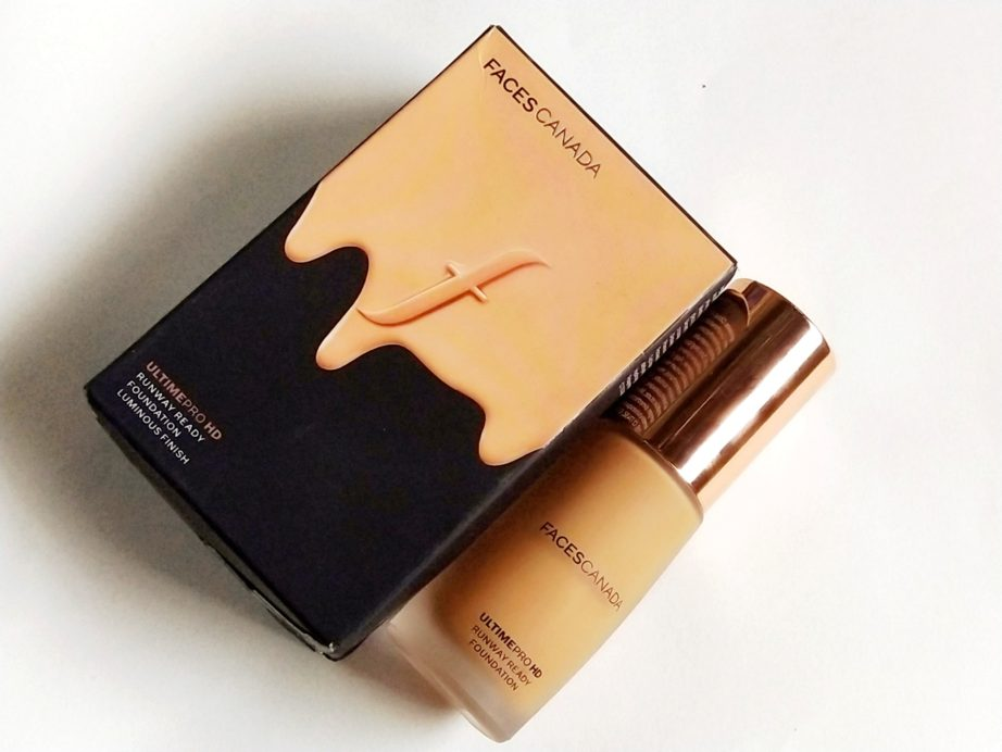 Faces Ultime Pro HD Runway Ready Foundation Review, Swatches