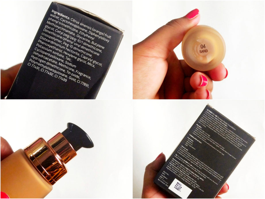 Faces Ultime Pro HD Runway Ready Foundation Review, Swatches details