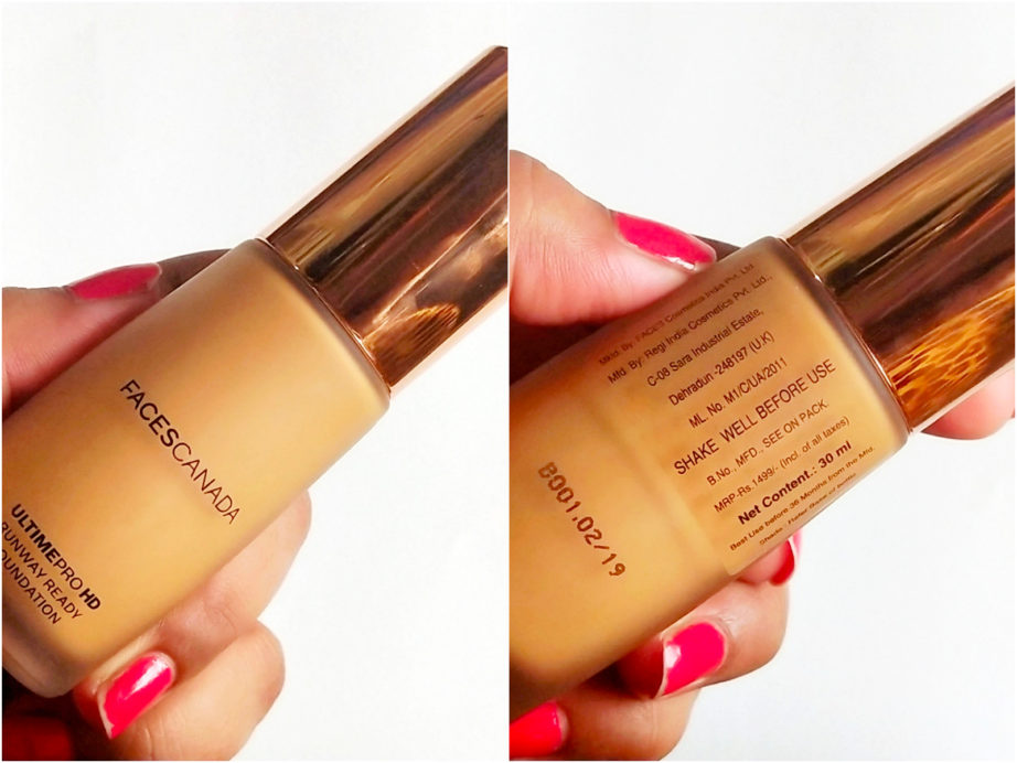 Faces Ultime Pro HD Runway Ready Foundation Review, Swatches mbf blog
