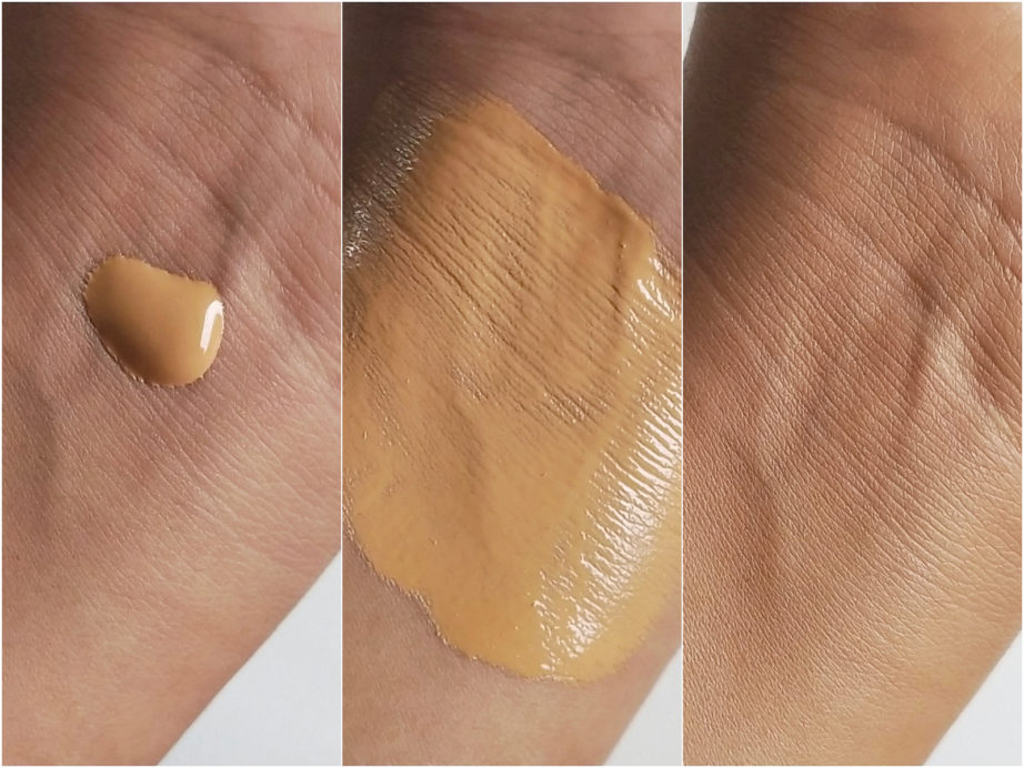 Faces Ultime Pro HD Runway Ready Foundation Review, Swatches nc42 indian olive skin before after