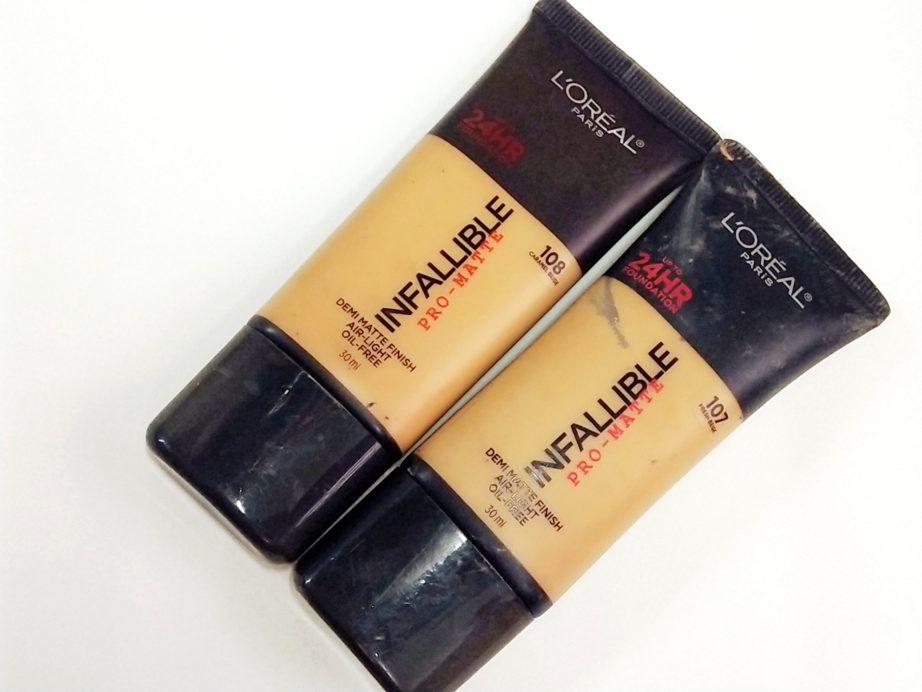 L'Oreal Infallible Pro Matte Foundation Review, Swatches