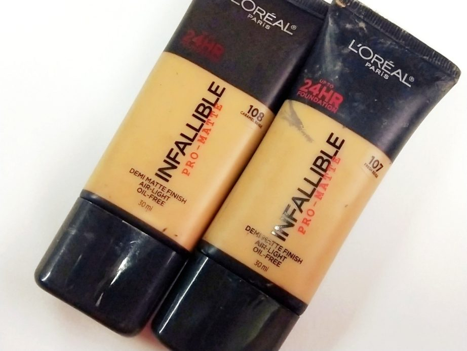 L'Oreal Infallible Pro Matte Foundation Review, Swatches MBF
