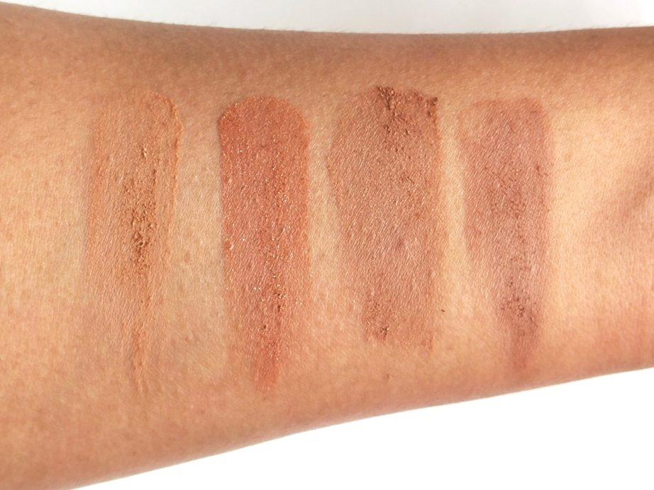 ELF Bronzer Palette Deep Bronzer Review, Swatches skin