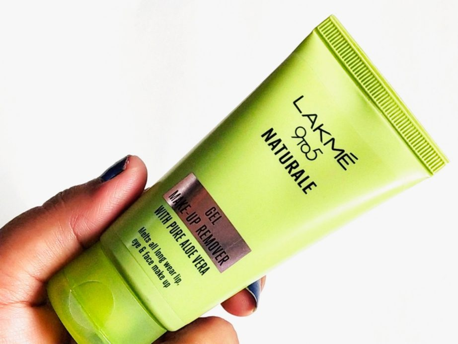 Lakme 9 To 5 Naturale Gel Makeup Remover Review, Demo front