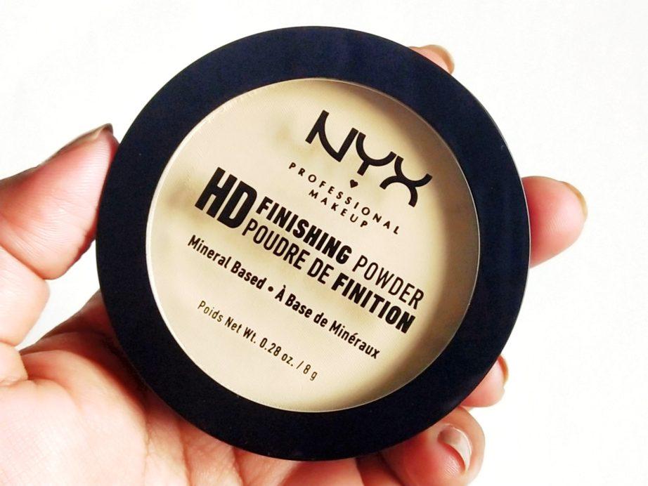 NYX HD Finishing Powder Banana Review, Swatches MBF