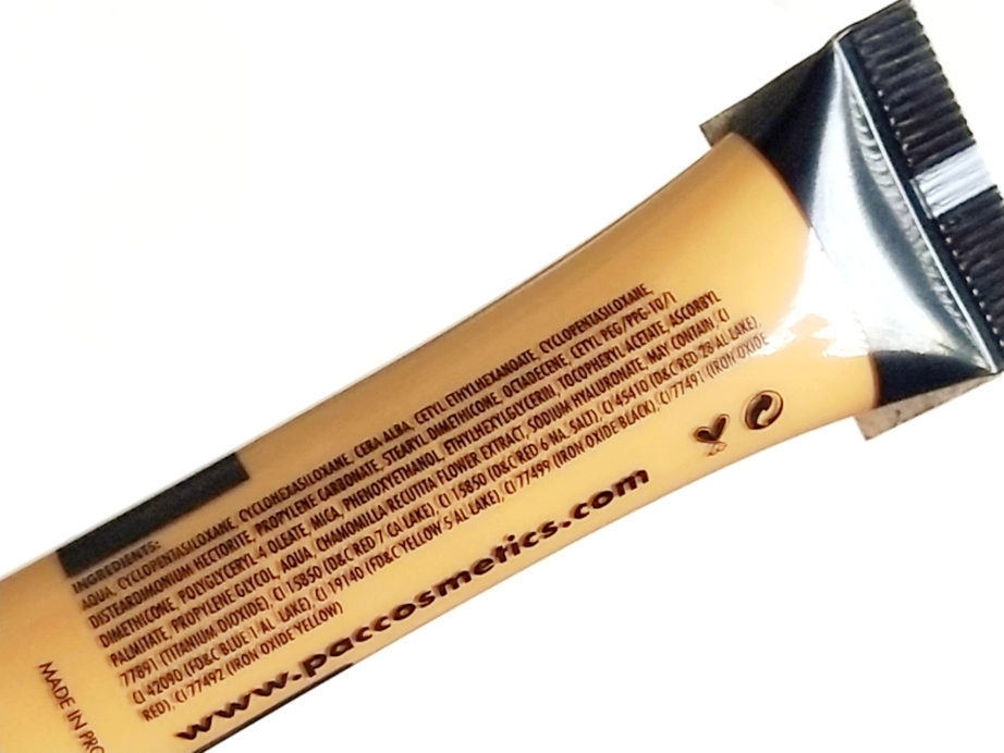 PAC Take Cover Concealer Review, Swatches Ingredients