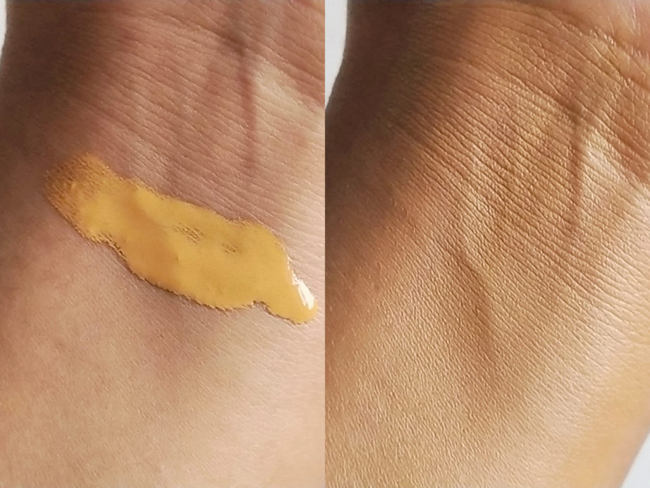 SUGAR Drop The Base Serum Foundation Review, Swatches skin